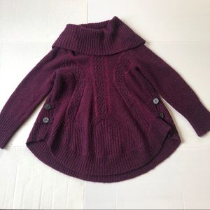 Anthro angel Of the North cabled Boucle pullover S